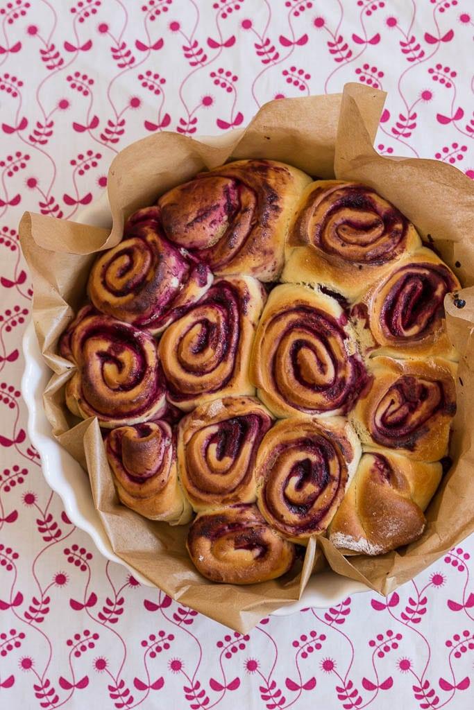 Kuchen ohne Zucker für Babys und Kleinkinder - Beerenschnecken