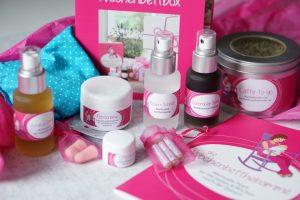 Geschenke zur Geburt des Babys für die Mama: die Wochenbettbox