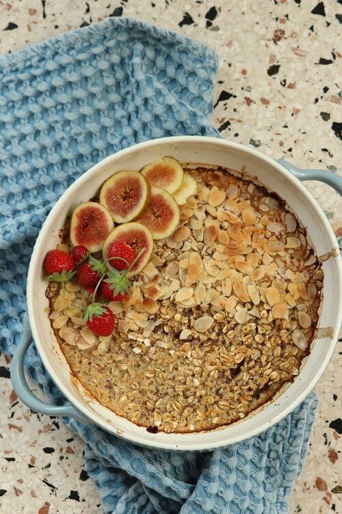 Frühstück für Kleinkinder Feigenauflauf