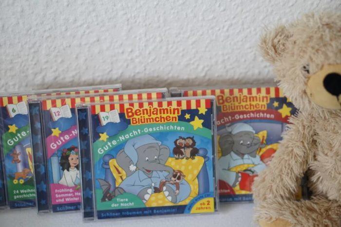 Hörspiele für Kleinkinder ab 2 Jahren - Benjamin Blümchen Gutce Nacht Geschichten CDs - Gewinnspiel für unserer Blog Leser