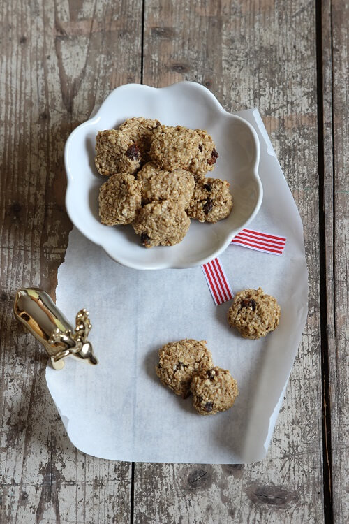 Plätzchen ohne Zucker und Ei: Bananen-Erdnuss-Cookies