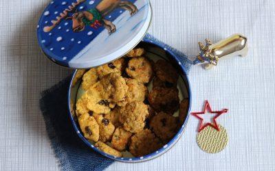 Weihnachtsplätzchen ohne Zucker: Rosinen-Hafer-Plätzchen in nur 25 Minuten