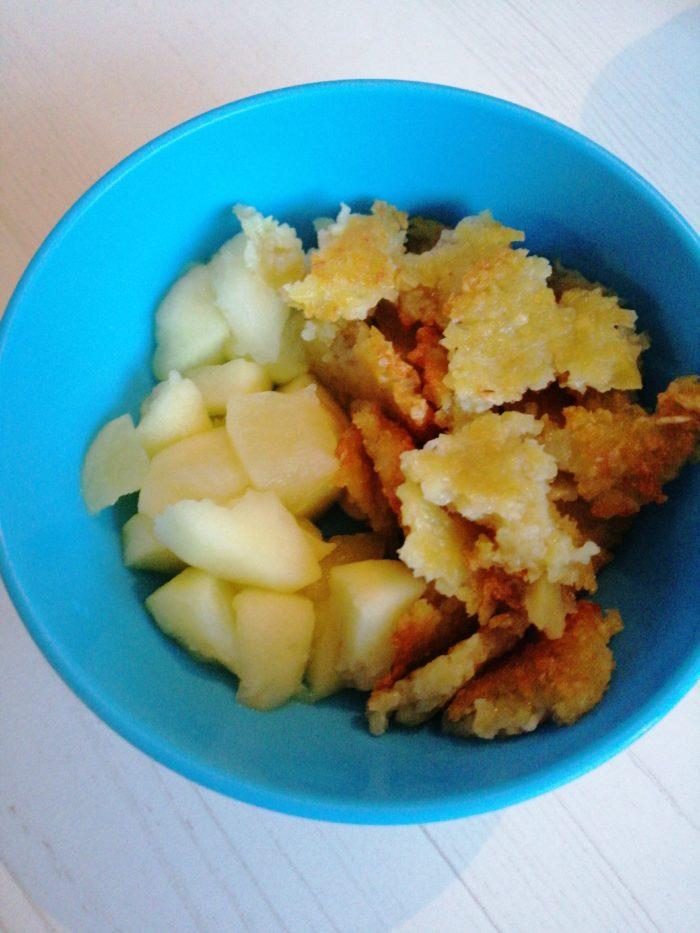 Kartoffelpfannkuchen mit Apfelmus für einen breifreien Beikoststart