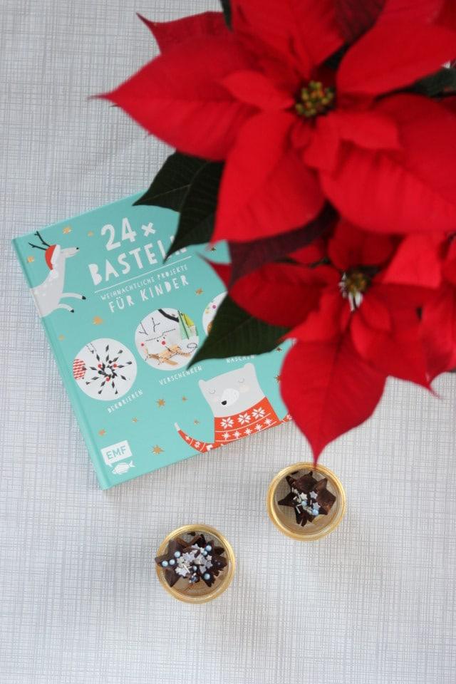 Bastelbuch für Kinder von Cuchikind mit tollen DIY Ideen für Kinder rund ums Thema Basteln für Weihnachten und ein Rezept für Schokolade