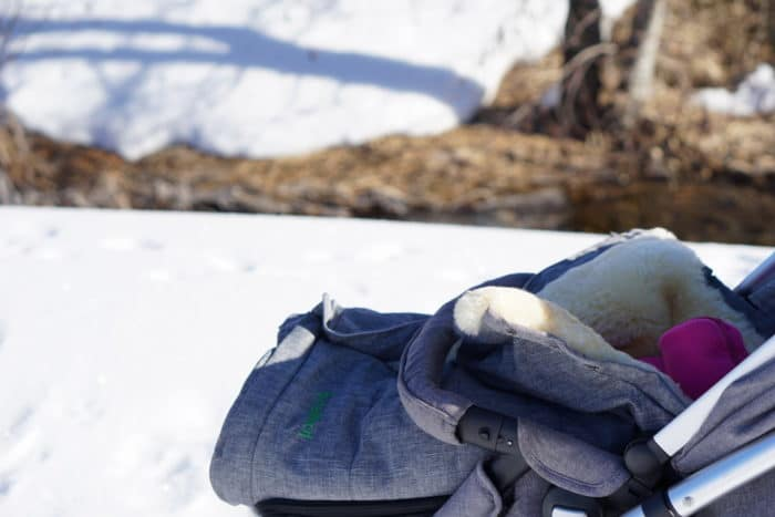 Winterurlaub im Schnee im Schwarzwad - mit dabei unser Lammfellfußsack Sölden vom Fellhof