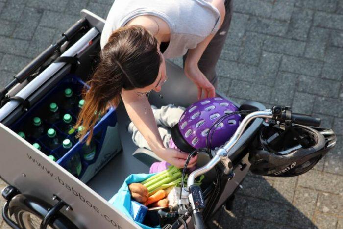Großeinkauf für den Wochenplan und köstliche Familiengerichte ist mit unserem Lastenfahrrad kein Problem.