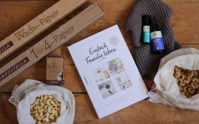 """[Anzeige] Unsere Monatslieblinge im Mai mit dem Buch """"Einfach Familie leben"""", kompostierbarer Frischhaltefolie von Compostella und Entspannung mit Primavera"""