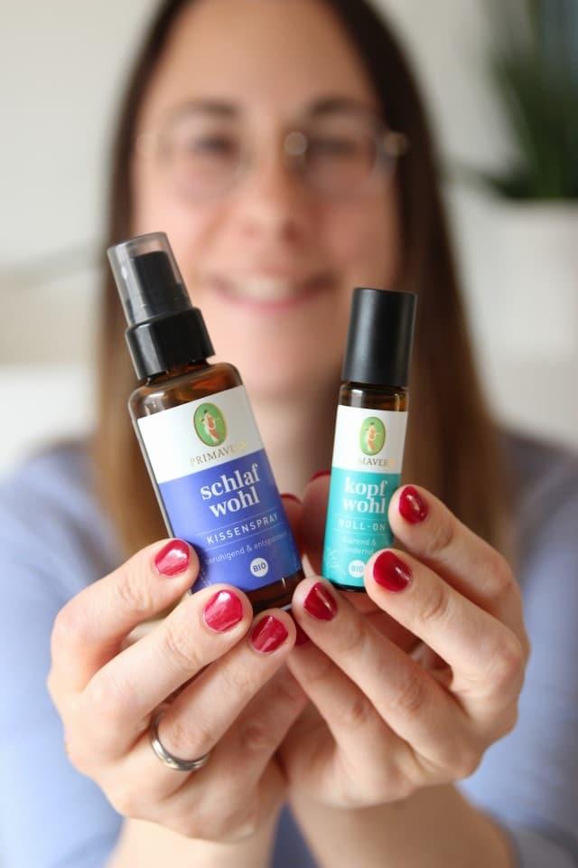 SChlafwohl und Kopfwohl von Primavera - zwei Helfer für den Alltag als Mama und hilfreich bei Kopfschmerzen und Verspannungen und super für jede Mombie