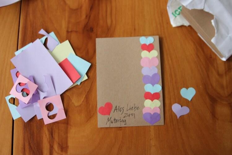 Karten zum Muttertag basteln