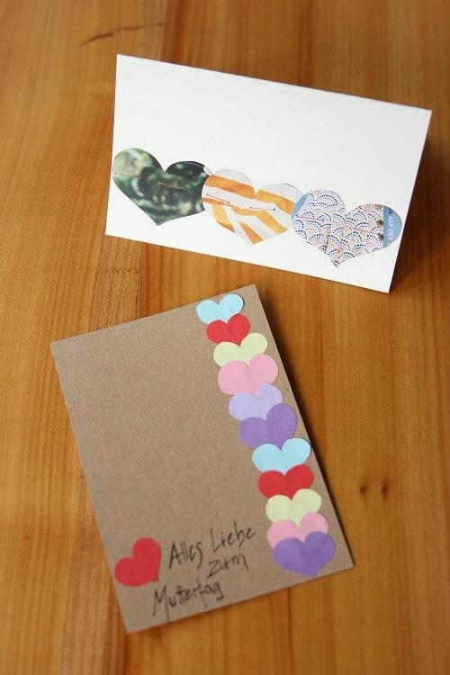 Was Schönes Für Den Muttertag Basteln Anleitung Für Grußkarten