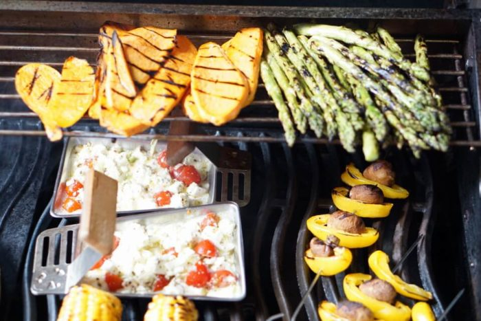 Gemüse und Käse vom Grill - BBQ mit Baby - BLW und breifrei geht auch vom Grill mit leckerem Gemüse