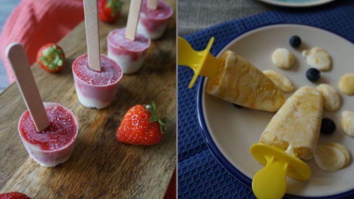 zuckerfreies Eis mit Obst für Babys und Kleinkinder - BLW Rezepte für den Sommer
