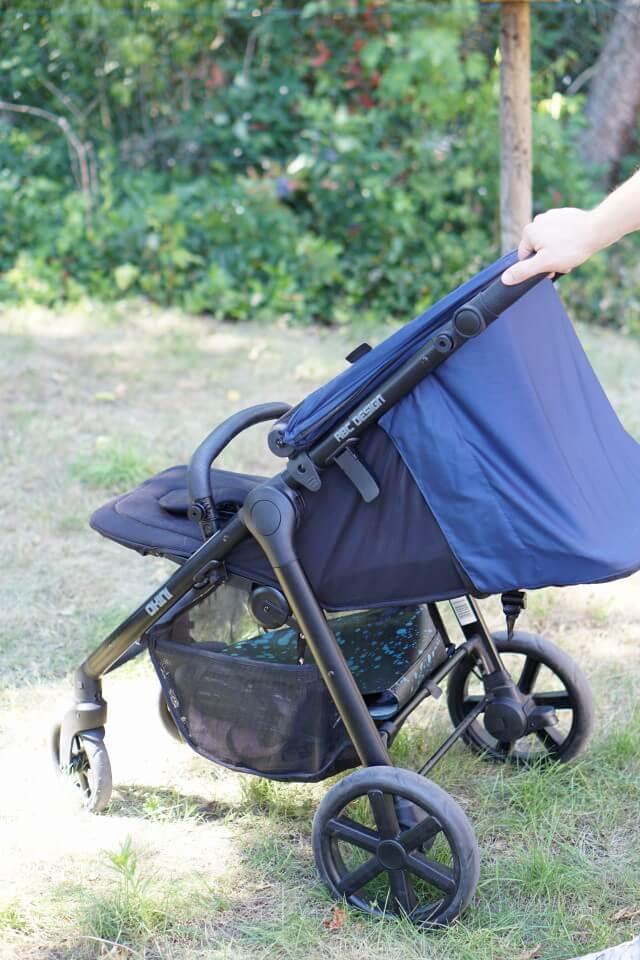 blau schwarzer Buggy von ABC DESIGN für Babys und Kleinkinder