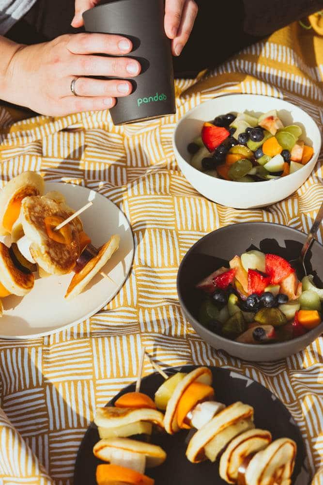 Picknick Geschirr aus Bambus von Pandoo