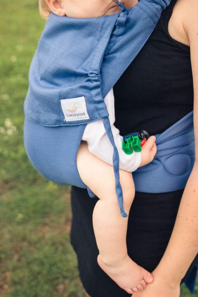 MeiTai Babytrage von Schmusewolke in blau