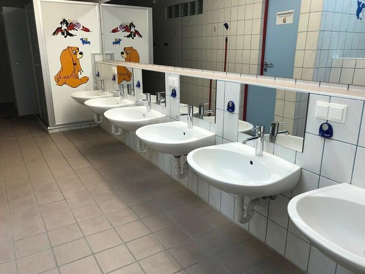 Kinder-Sanitäranlagen auf dem Campingplatz Brunner in Kärnten