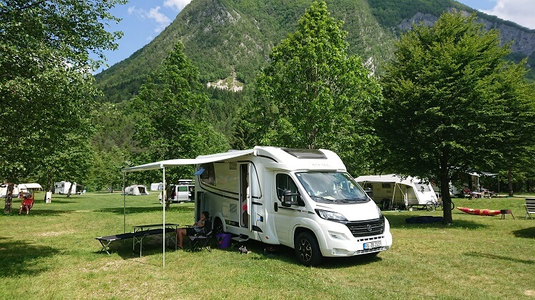 Camping in Slowenien an der Soca