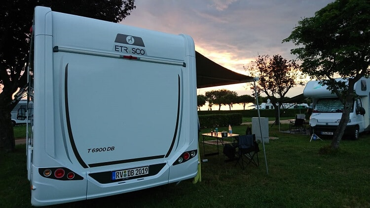 Ca,ping am Meer in Kroation Campingplatz Umag