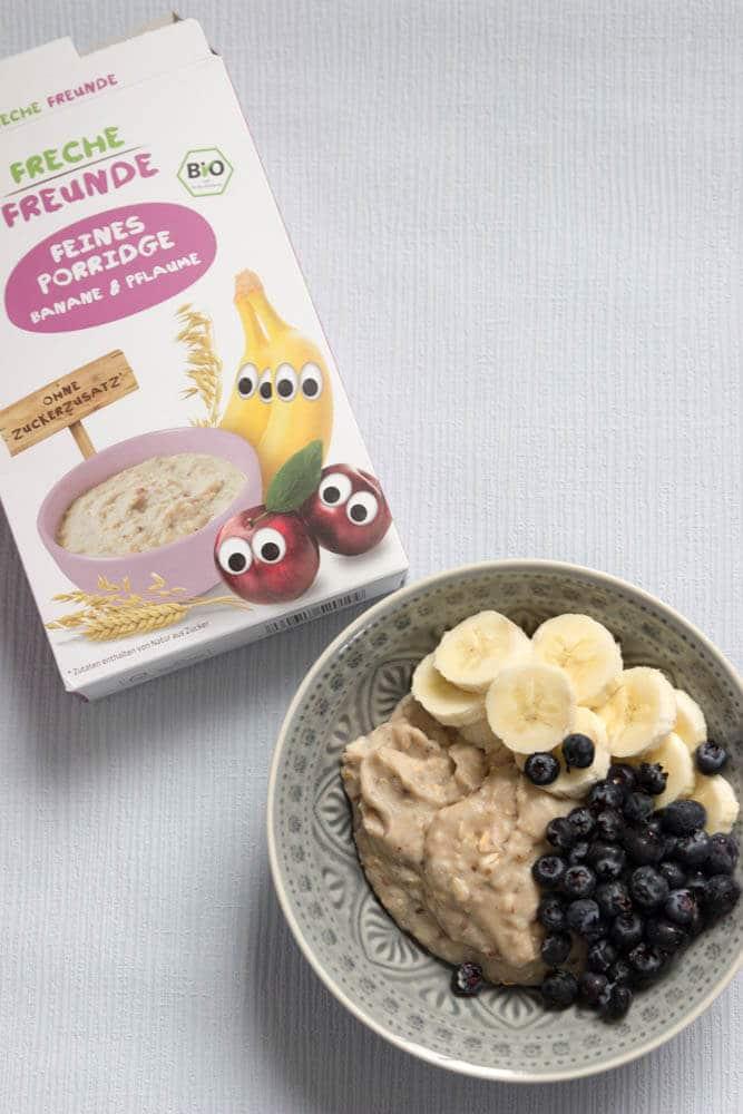BLW Frühstück - Fürhstück für Babys mit den breifrei Frühstücksideen und einem Porridge zum Selberessen
