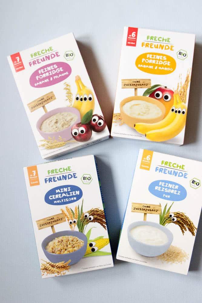 Freche Freunde Frühstück für Babys - unser Tipps und ein Rezept für das BLW und breifrei Frühstück mti Müsli und Porridge für Babys