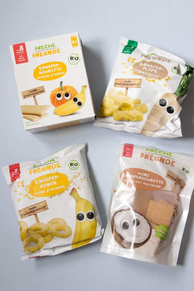 Banane, Mango, Apfel und Pastinake für Babys - Snacks und Hirsekringel für Babys und BLW