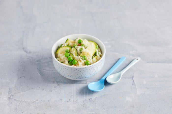 Erbsen-Zucchini-Risotto - unser veganes breifrei Rezept für Babys und Kinder