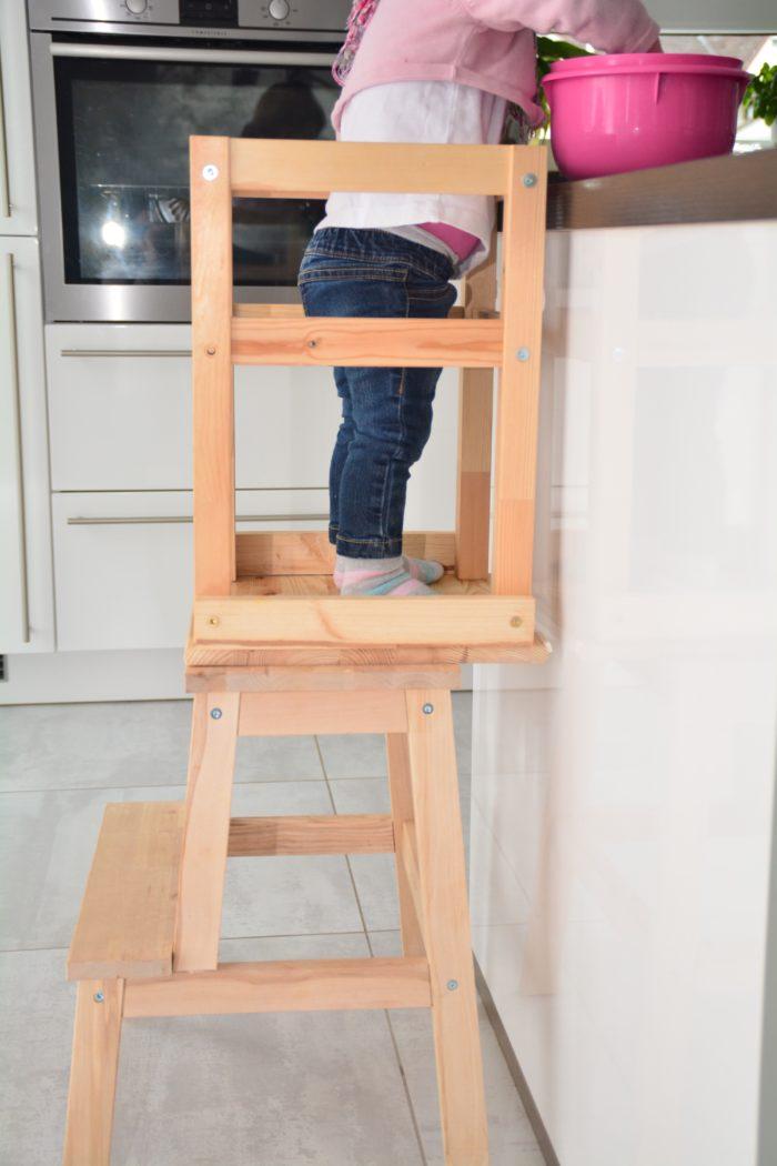 Learning Tower selbst bauen mit Ikea Stühlchen