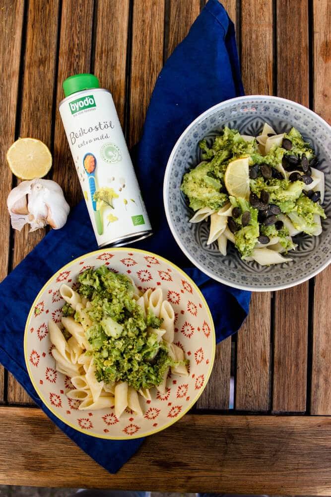 Lecker kochen für Babys: Nudeln mit Pesto und Beikostöl