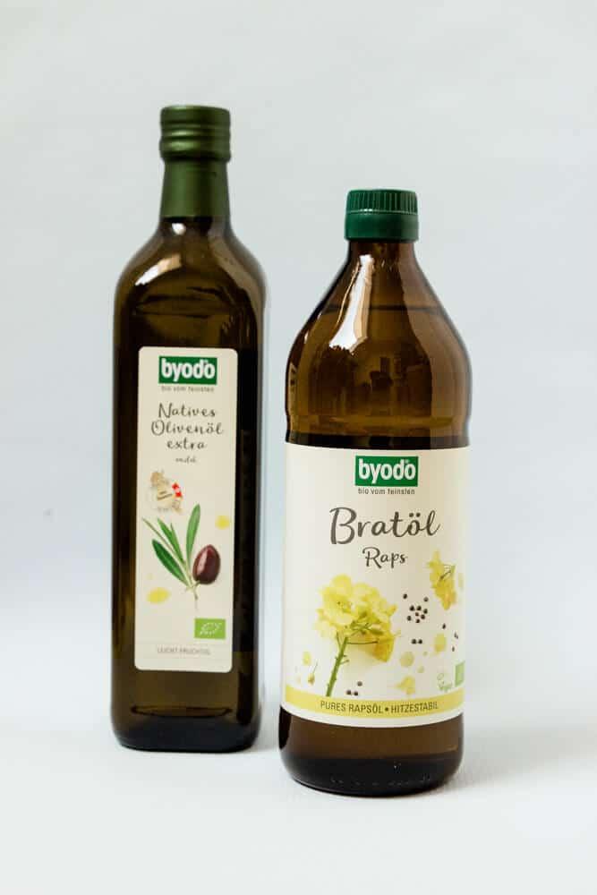 Bratöl von Byodo für die Familienküche