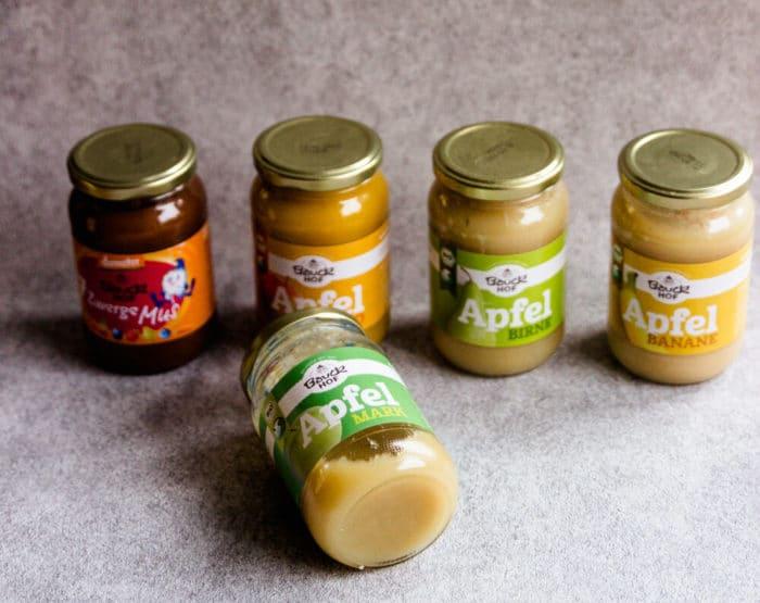 Obstmark, Obstmus, Obstgläschen - Backen ohne Zucker mit tollen Alternativen, die auch für Babys geeignet sind. BLW und breifrei Rezept für Weihnachten.