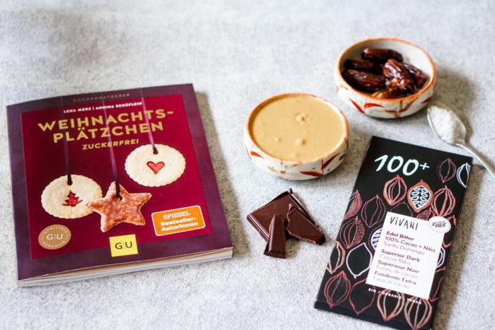 Zuckerfreie Schokolade von Vivani - Pralinen mit Erdnussmus und Meersalz