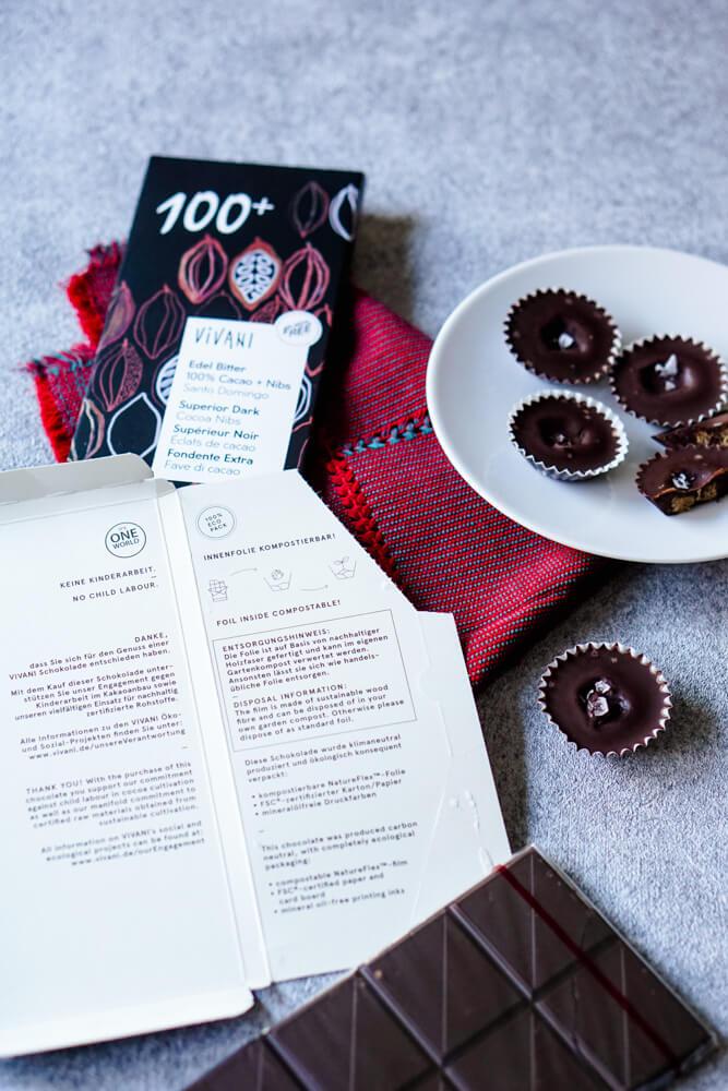 Zuckerfreie Schokolade für leckere Weihnachtsplätzchen