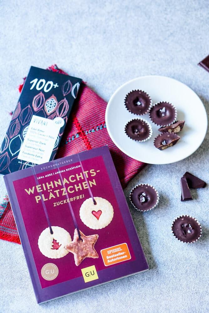 Zuckerfreie Schokolade für leckere Weihnachtsplätzchen - Backen mit Vivani