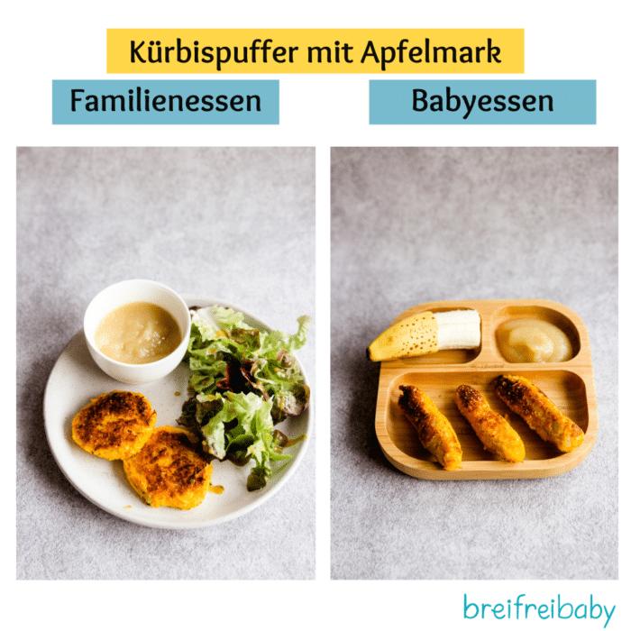 Elternessen und Babyessen - wir zeigen dir, wie du die Gerichte für dein breifreibaby anrichten kannst