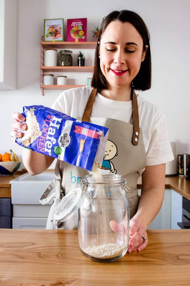 Haferflockenkekse ohne Zucker mit Produkten von Bauckhof