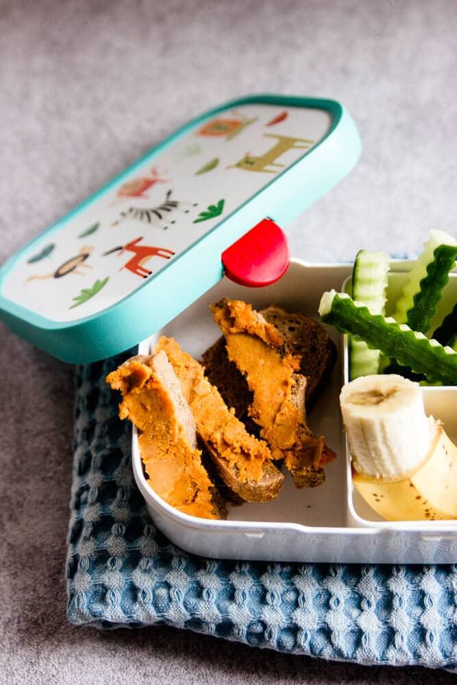 Brotaufstrich für Kinder in der Brotdose