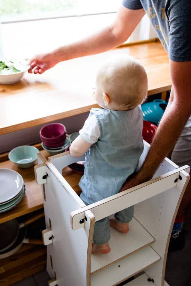Lernturm in der Küche